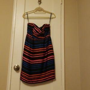 H&M Strapless Satin Dress - Size 8